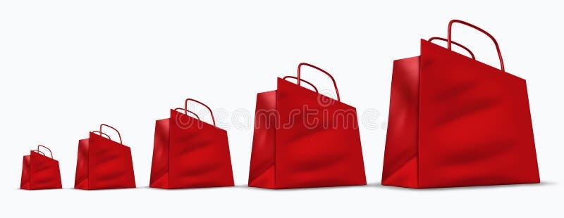 Retail sales chart vector illustration