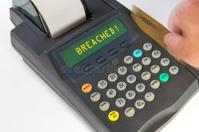 Retail Sales - Credit and Debit Card processing. Photo depicts the caution one has with processing debit and /or credit cards in todays market stock photos