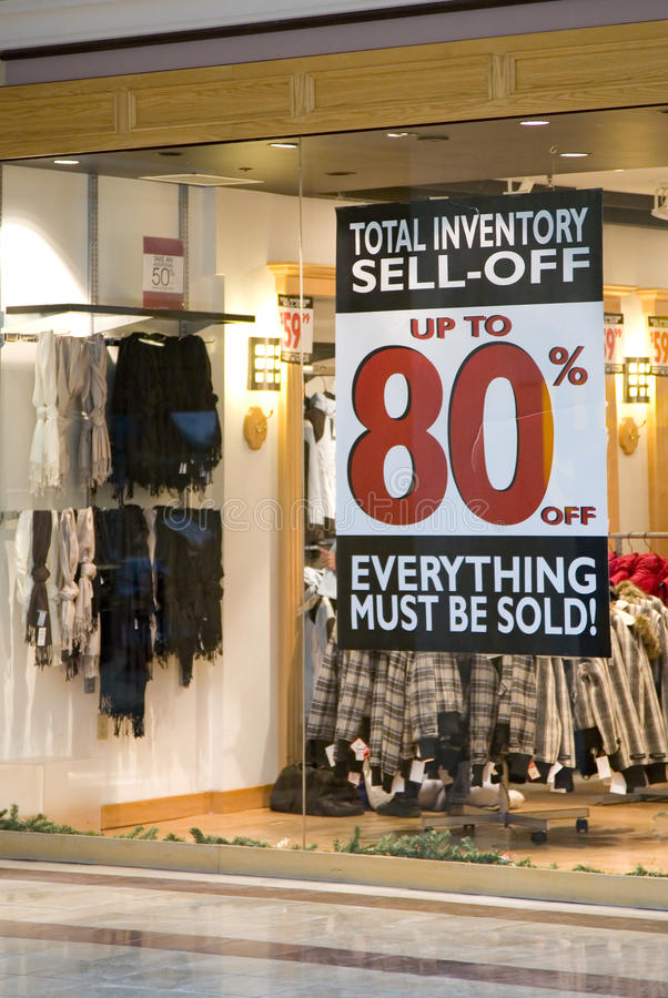 Retail Sell Off royalty free stock photography