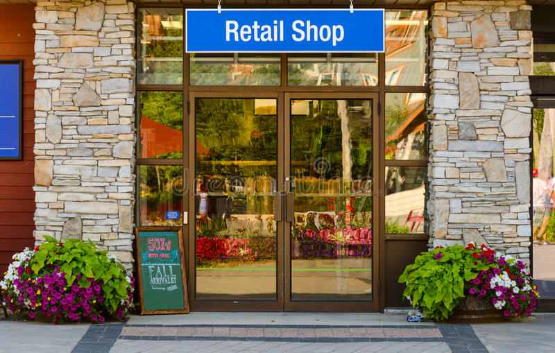 Retail Shop with sign stock image