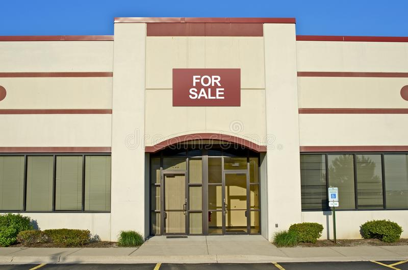 Retail Store Building. For Sale. Commercial Buildings stock photo