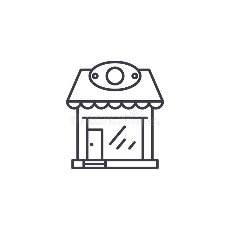 Retail store linear icon concept. Retail store line vector sign, symbol, illustration. vector illustration