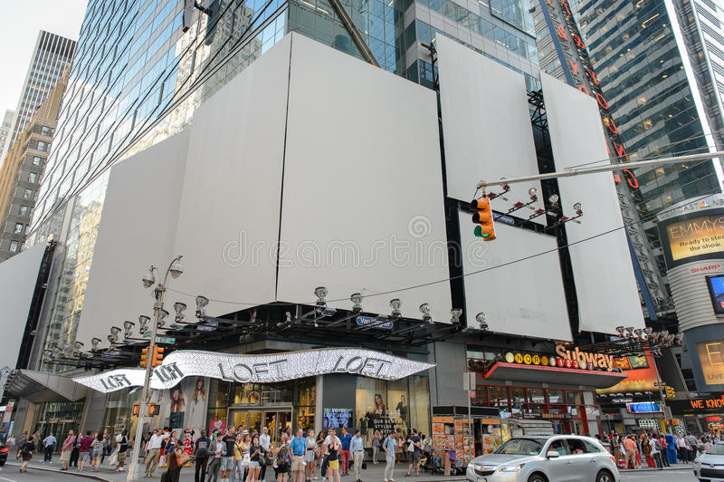 Retail store at Times Square stock image