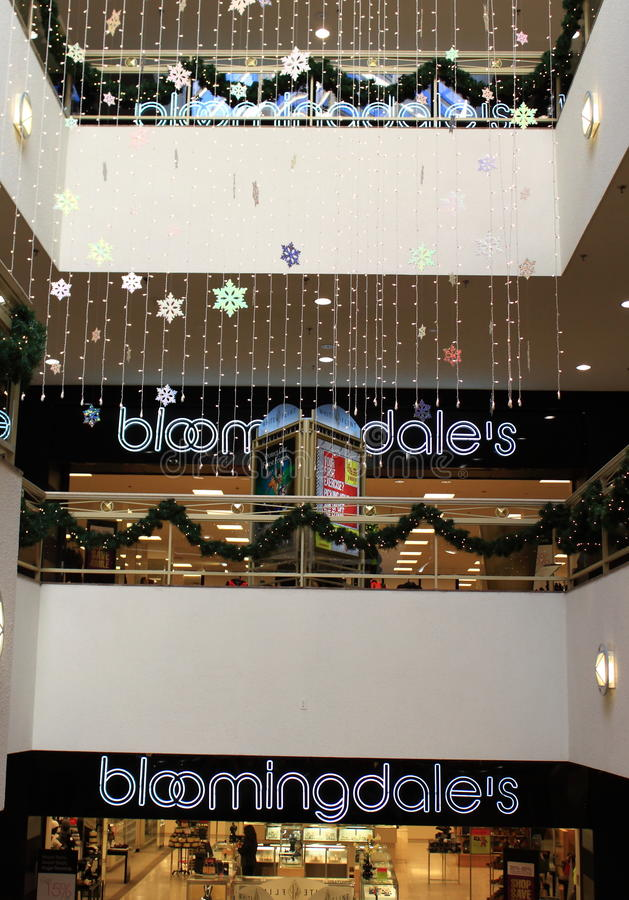 Bloomingdales Store Shopping Mall. Retail Stores, Bloomingdales, a major department store in USA stock photos