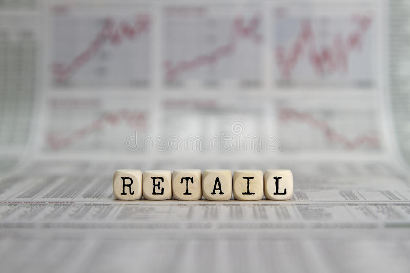 RETAIL royalty free stock photography