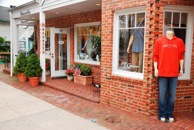Retailer in Southampton, Long Island. An Upscale Casual Store in Downtown South Hampton, Long Island royalty free stock photos