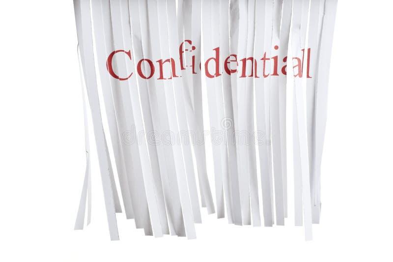 Retalhadora confidencial foto de stock