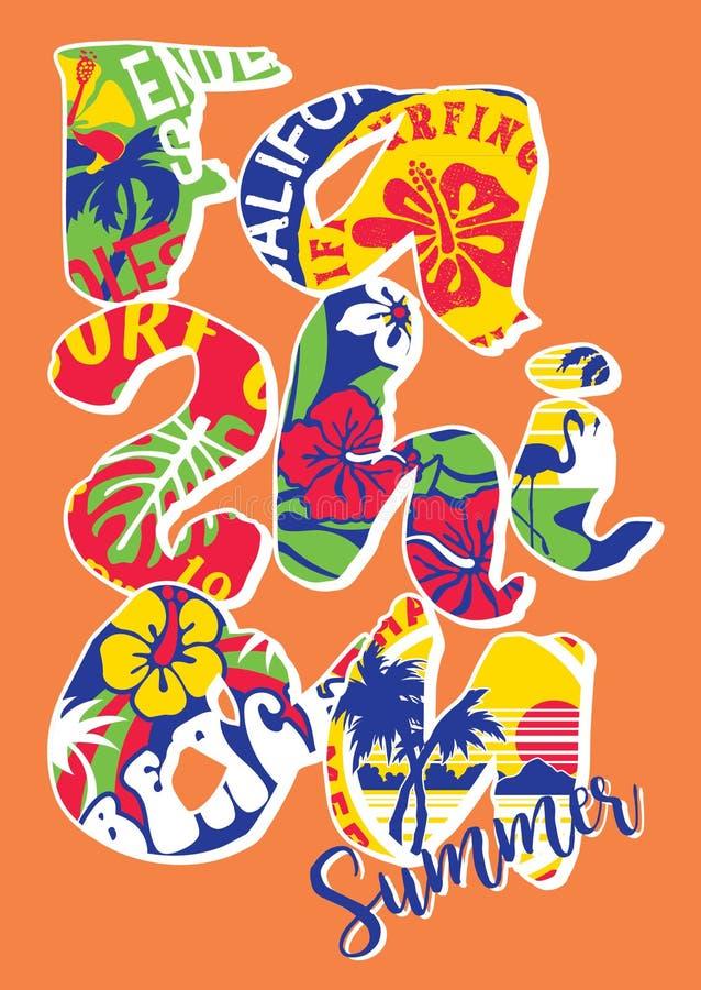 Retalhos da etiqueta da rotulação do verão da forma ilustração stock