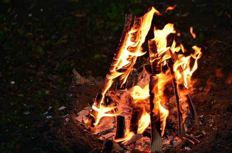 Retard Ba'Omer Jewish Holiday Bonfire photographie stock libre de droits