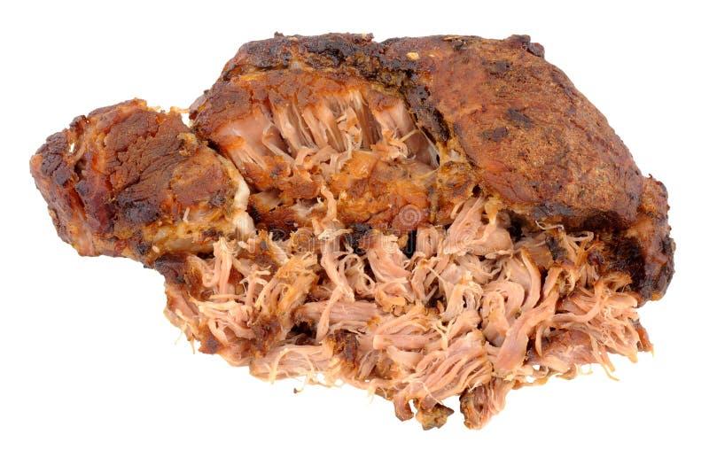 Retarde a carne de carne de porco puxada cozinhada imagem de stock