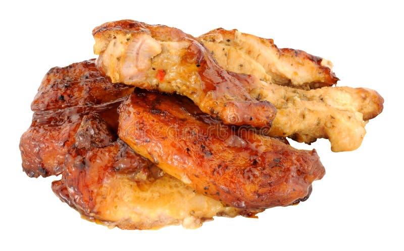 Retarde fatias cozinhadas da barriga de carne de porco imagem de stock