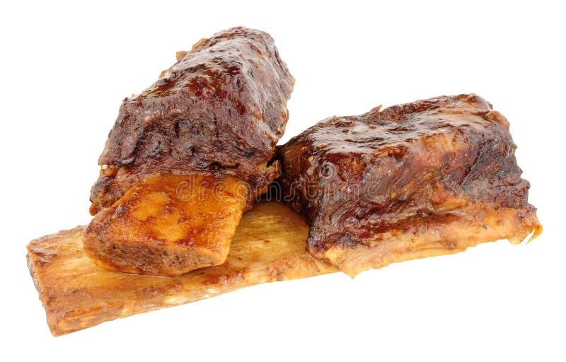 Retarde reforços curtos cozinhados da carne foto de stock royalty free