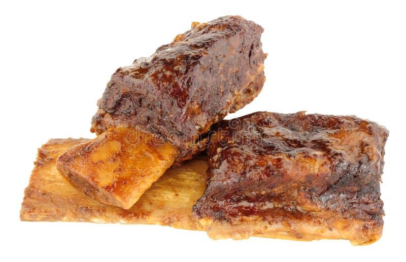 Retarde reforços curtos cozinhados da carne foto de stock