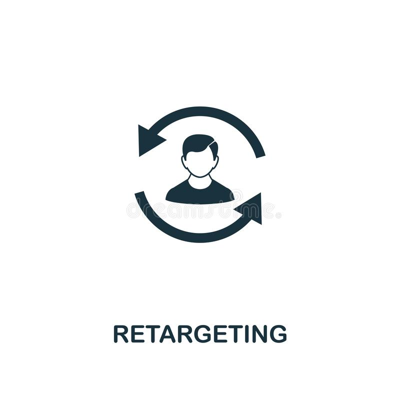 Retargeting icon. Creative element design from content icons collection. Pixel perfect Retargeting icon for web design, apps, stock illustration