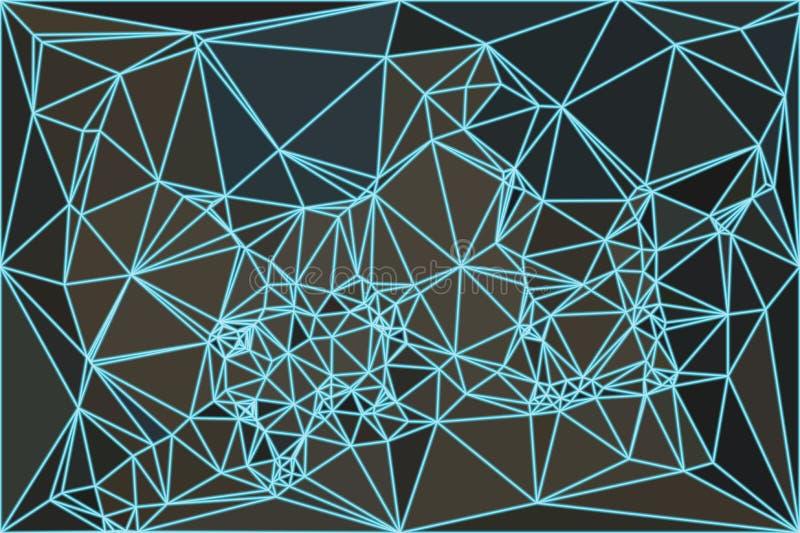 Rete astratta in basso poli illustrazione vettoriale