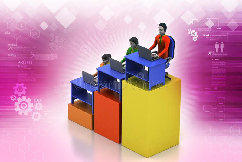 Rete con il computer portatile royalty illustrazione gratis