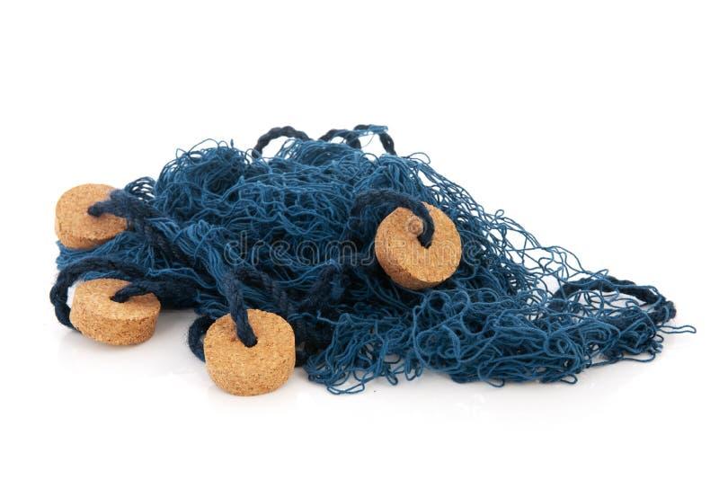 Rete da pesca blu immagine stock