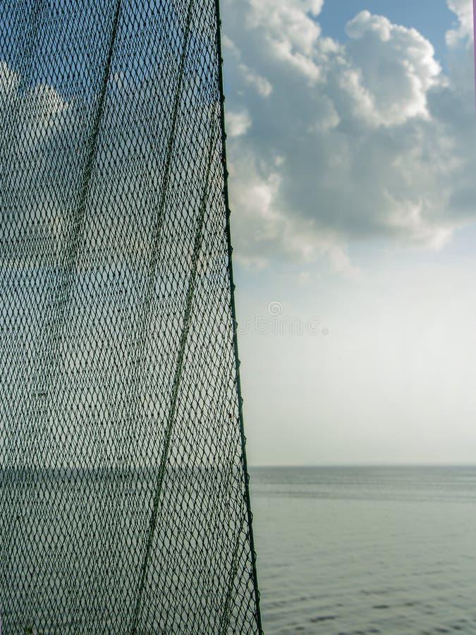 Rete da pesca La struttura può usare come fondo Elemento per lo spazio della copia fotografia stock libera da diritti