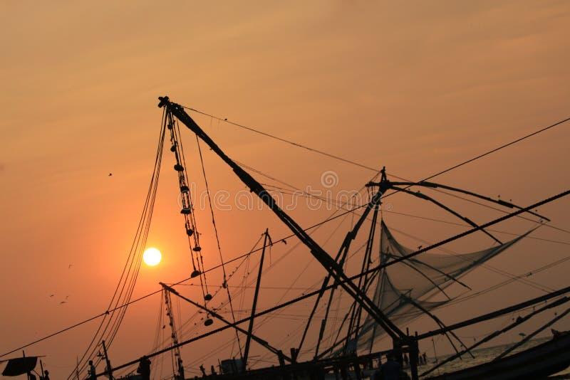 Rete da pesca speciale del Kerala immagini stock