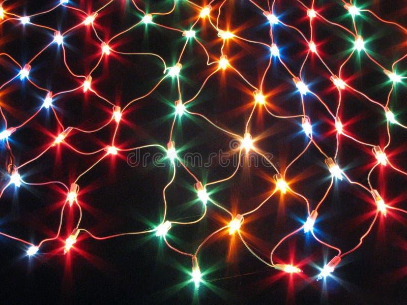 Rete decorativa dell'indicatore luminoso della stringa immagini stock libere da diritti