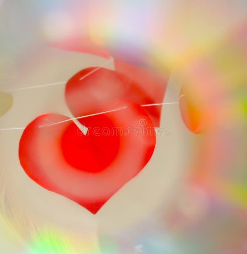 Rete dei cuori del biglietto di S. Valentino immagini stock libere da diritti
