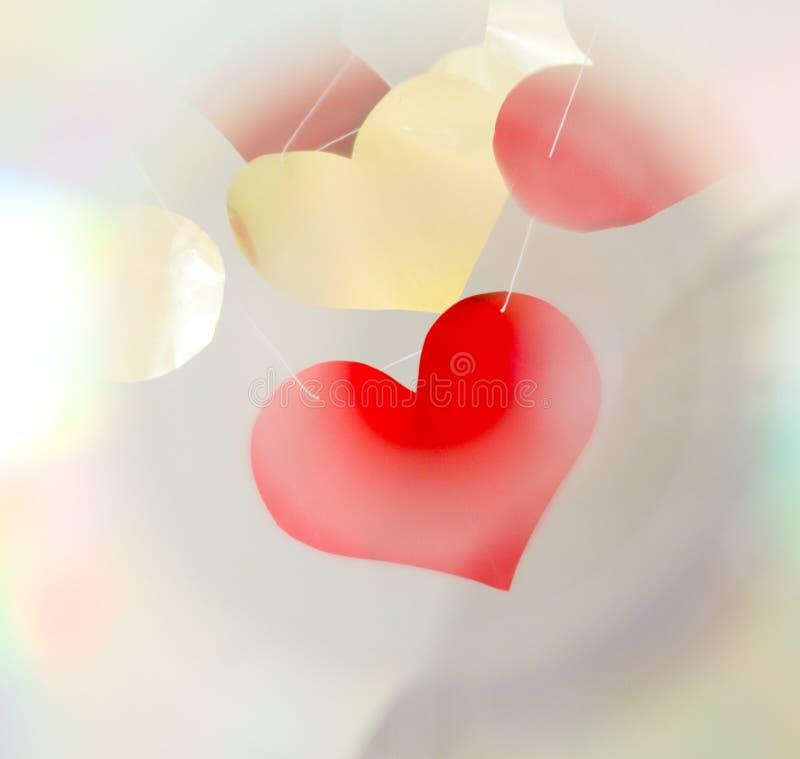 Rete dei cuori del biglietto di S. Valentino fotografia stock