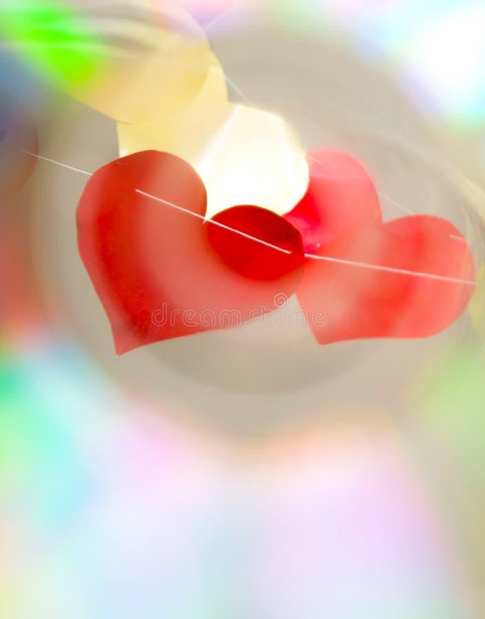 Rete dei cuori del biglietto di S. Valentino immagine stock
