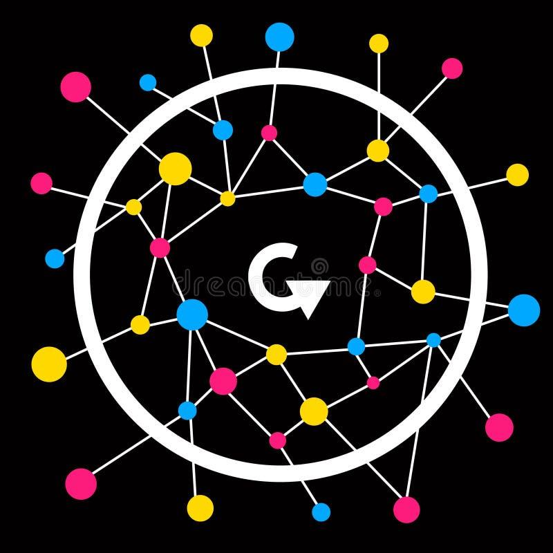 Rete del cerchio illustrazione vettoriale