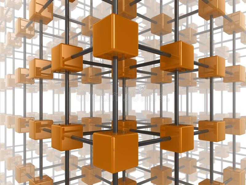 Rete del cubo illustrazione di stock
