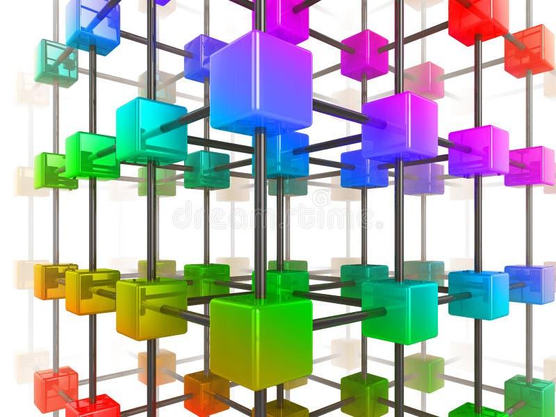 Rete del cubo illustrazione vettoriale