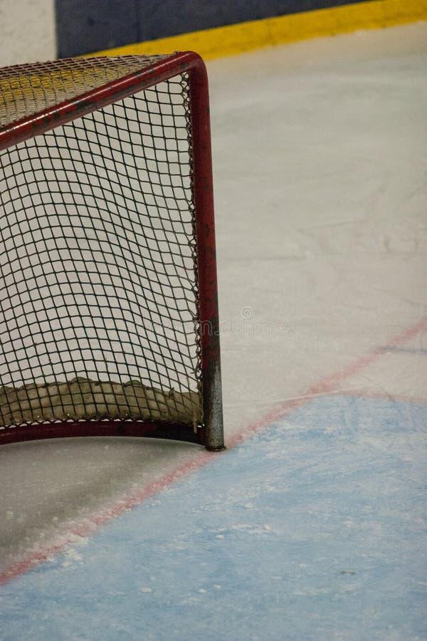 Rete dell'hockey fotografie stock