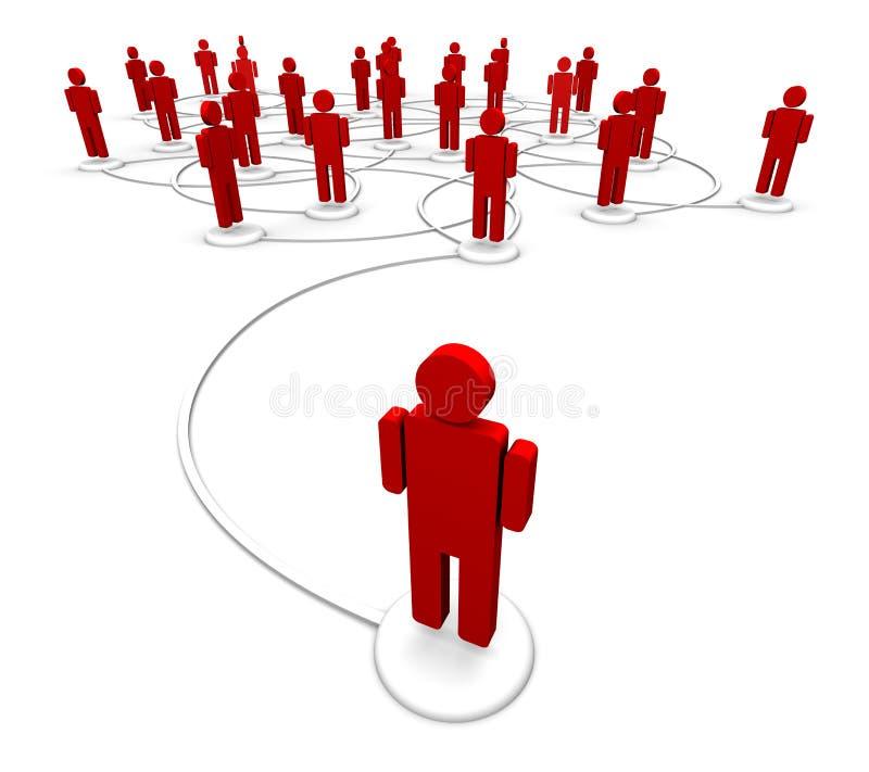 Rete della gente - collegamenti di comunicazione royalty illustrazione gratis