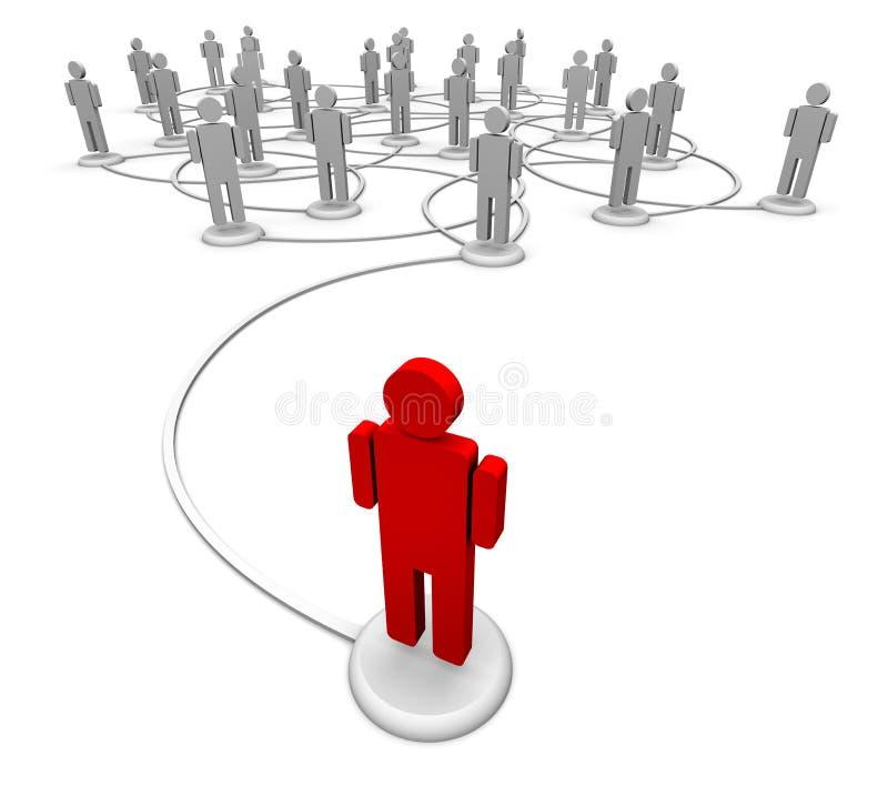 Rete della gente - collegamenti di comunicazione illustrazione di stock
