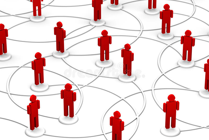 Rete della gente - collegamenti di comunicazione illustrazione vettoriale