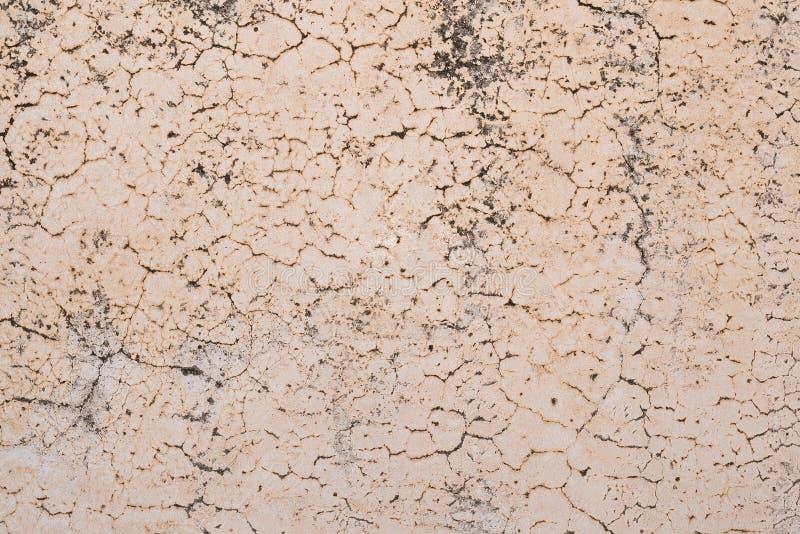 Rete delle crepe sulla parete antica fotografie stock libere da diritti