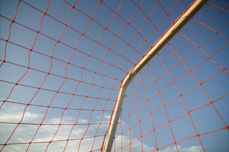 Rete di calcio di gioco del calcio fotografia stock