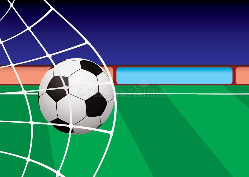 Rete di obiettivo del passo di gioco del calcio illustrazione vettoriale