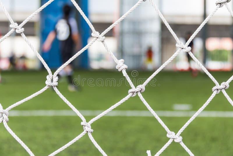 Rete di obiettivo di gioco del calcio immagini stock libere da diritti
