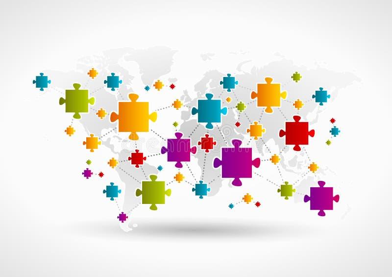 Rete di puzzle illustrazione di stock