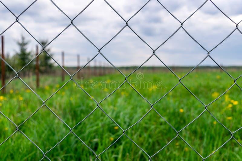 Rete di Rabitz del recinto della rete metallica immagine stock libera da diritti