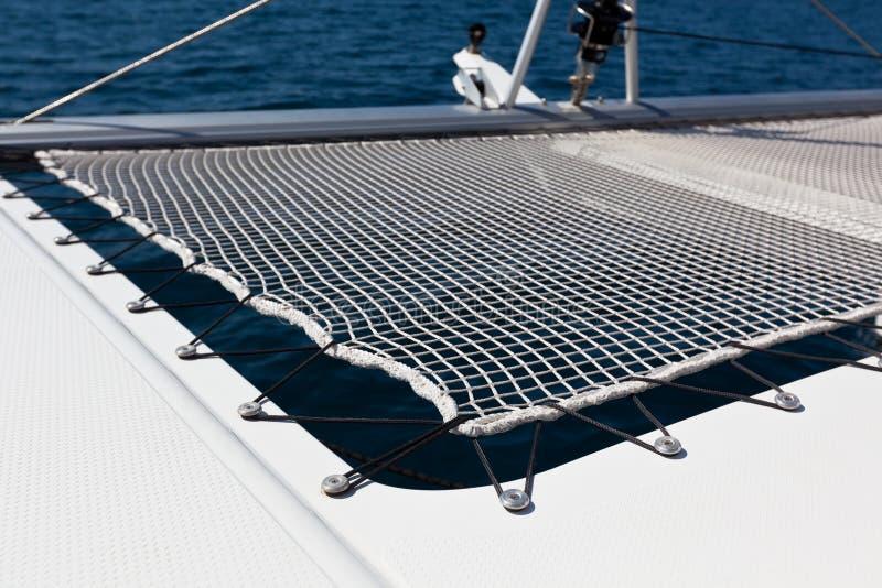 Rete di sicurezza dell'yacht fotografia stock libera da diritti