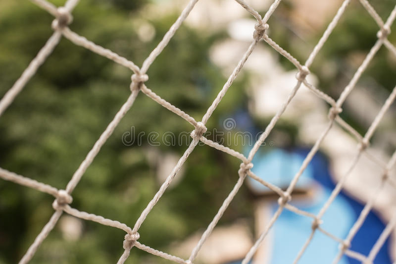 Rete di sicurezza per il balcone fotografie stock