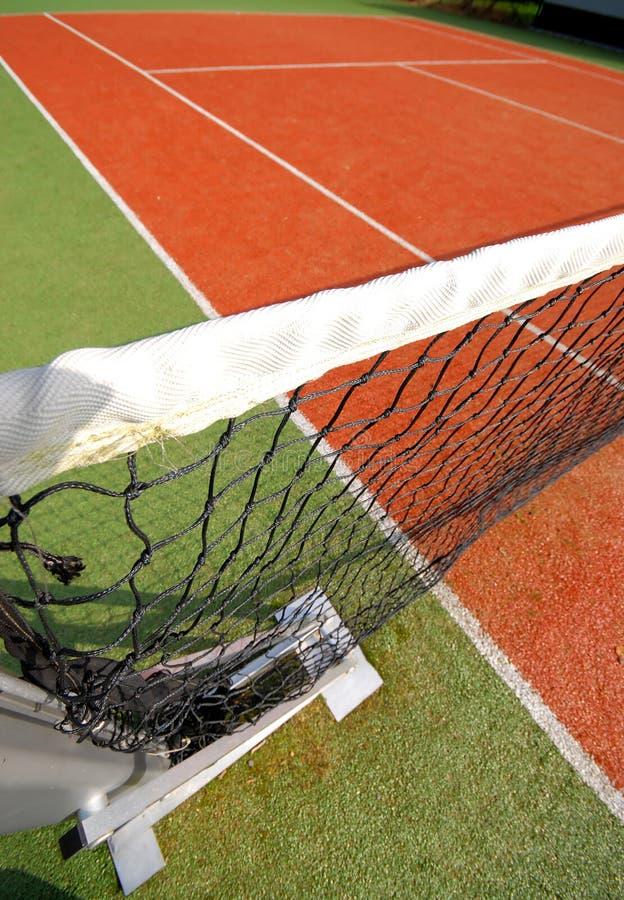 Rete e corte di tennis fotografie stock libere da diritti