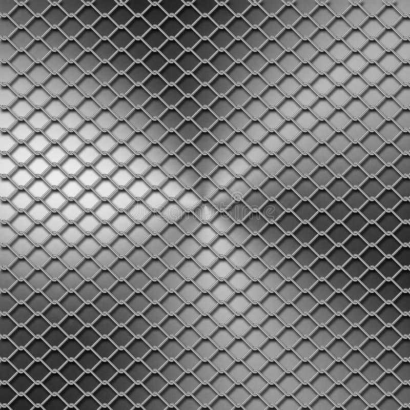 Rete fissa del metallo illustrazione vettoriale