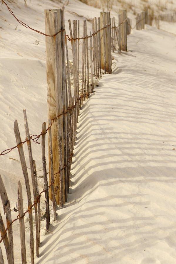 Rete fissa della spiaggia fotografia stock libera da diritti