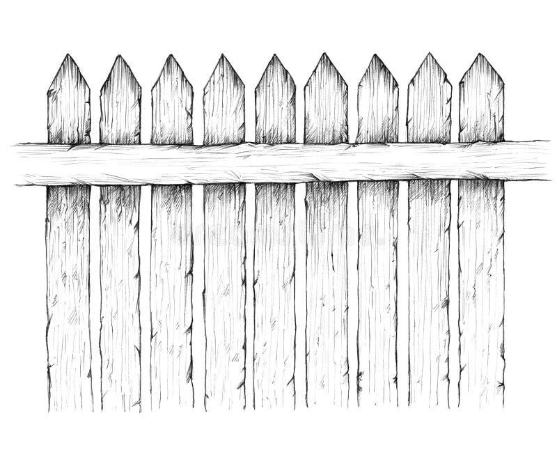 Rete fissa di legno illustrazione vettoriale