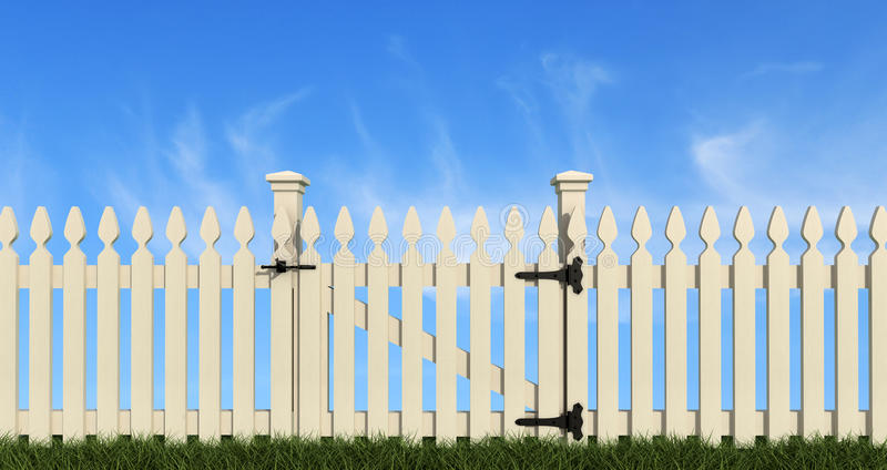Rete fissa di legno bianca illustrazione di stock