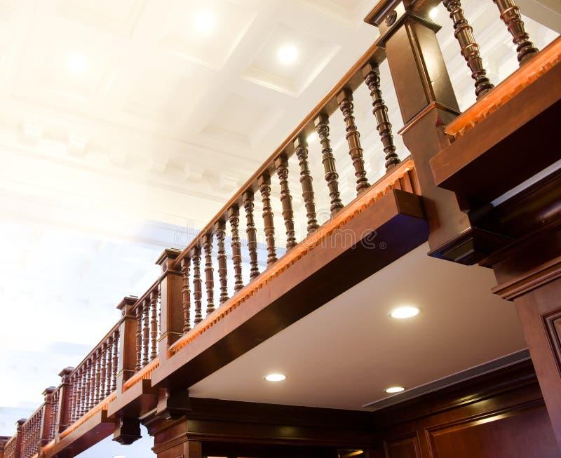 Rete fissa di legno decorativa immagine stock libera da diritti