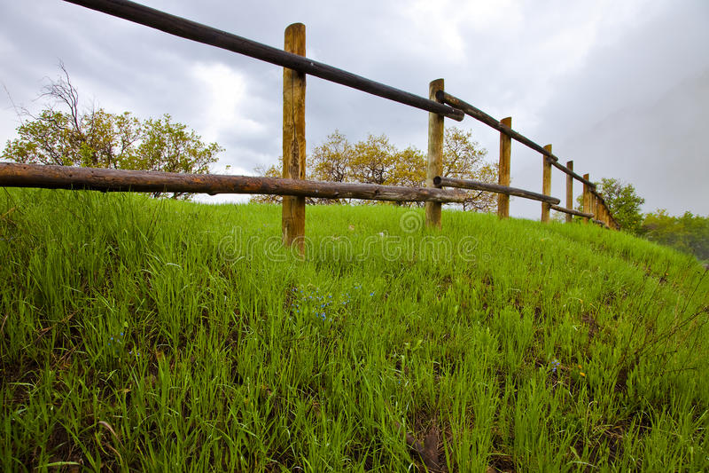 Rete fissa di legno del Palo fotografia stock libera da diritti