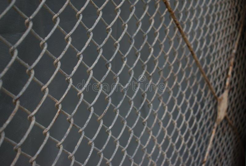 Rete metallica con ruggine immagine stock